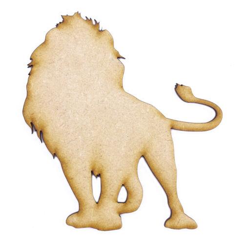 3mm MDF Laser Cut Craft Blank Scrapbook Card Topper Lion