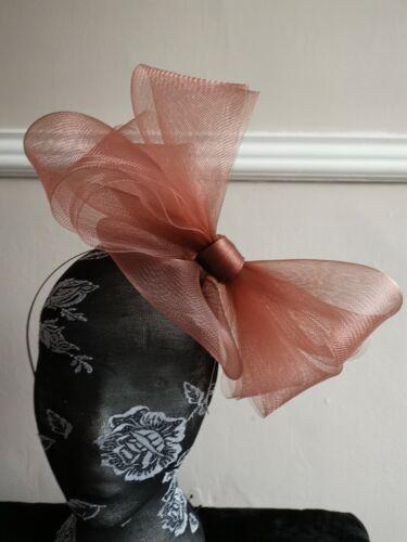 Fascinator de la Luz Marrón Burlesque Diadema Boda Sombrero de sombrerería hair piece