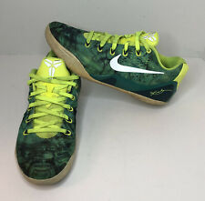 Nike Kobe 9 IX EM Easter Sz 10 Turbo Green Metallic Silver 646701-300