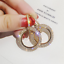 Gold Wedding Cruise Large Crystal Hoop Earrings Silver 3 colours  Rose Gold