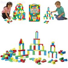 100 Piece Melissa & Doug Wooden Building Blocks Toy Set Classic Toys Kids New