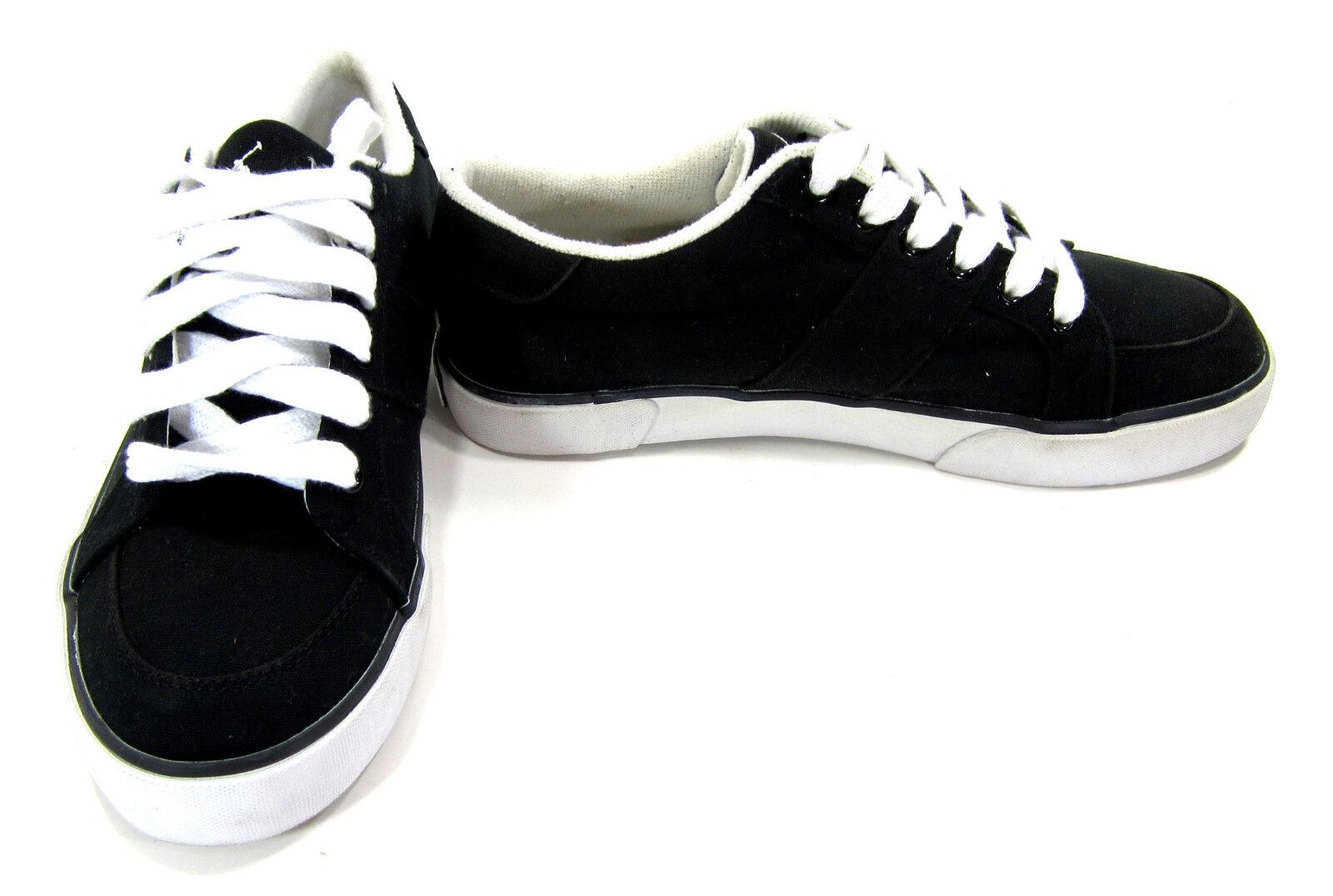 Polo Ralph Lauren shoes Harold Canvas Black White Sneakers Size 7
