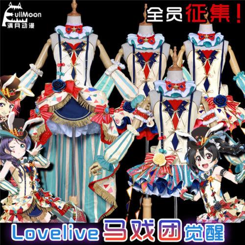 Love Live School idol project Tojo Minami Nico Rin Circus Bunny White Full Set