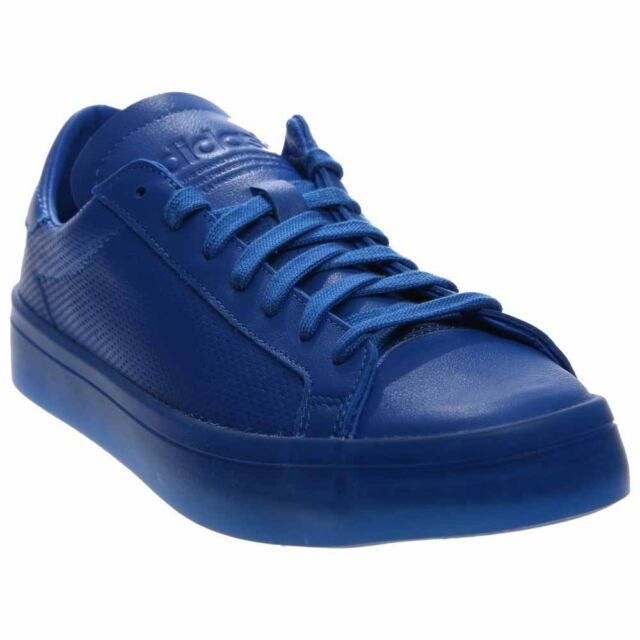 new arrival ff5e5 0935c adidas CourtVantage Adicolor Tennis Shoes - Blue - Mens