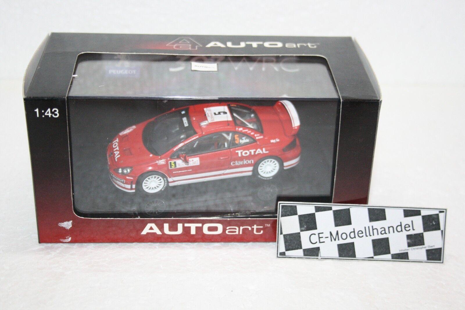 PEUGEOT 307 WRC Rally Monte Carlo   5 m. Gronholm  2004  AUTOART  1 43