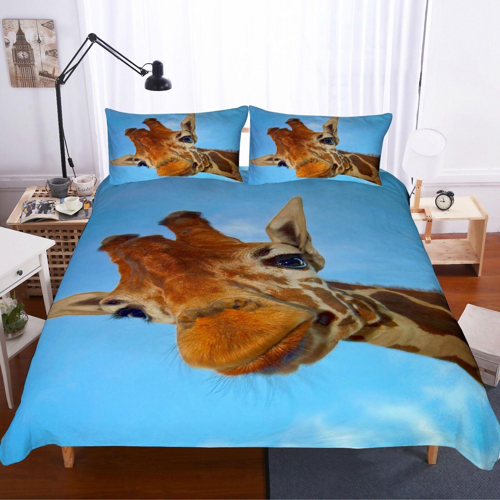 3D Giraffe Bedding Set Duvet Cover Comforter Cover Pillow Case New