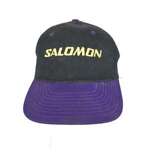 Salomon Mens Snapback Baseball Cap Hat Dad Trucker 90s Vintage Ski ... dac411762b5