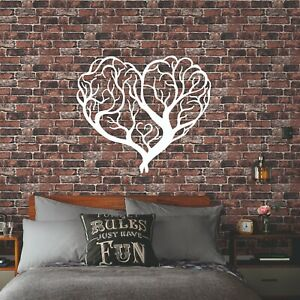 Details about Tree of Love Wall Decor Black Metal Wall Art Living Room  Decoratio New House