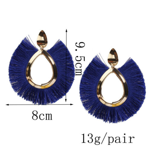 2018 Women/'s Bohemia Boucles d/'oreilles Tassel Fringe Goutte Dangle Stud crochet boho Earrings