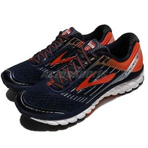 5b484f7091a Brooks Ghost 9 IX Black Orange Red Men Running Shoes Sneakers ...