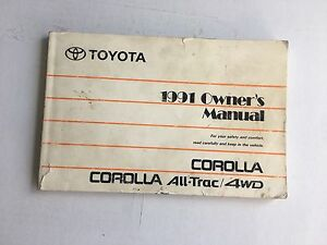 owners manual 1991 toyota corolla all trac v4 1 6l dx gts le sr5 rh ebay com 1991 toyota corolla repair manual 1991 Toyota Corolla Primer Black
