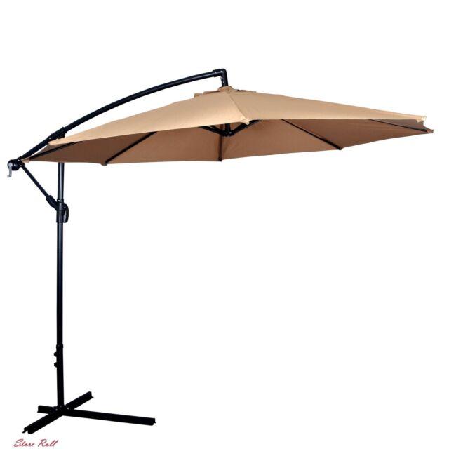 Umbrella Patio Offset Hanging Outdoor Market Tan Living Home Garden  Accessories