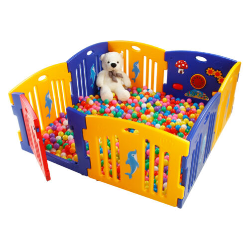 Mamakid Adjustable 8 Panel Baby Playpen Kids Playhouse Non-Toxic PE Safety Fence