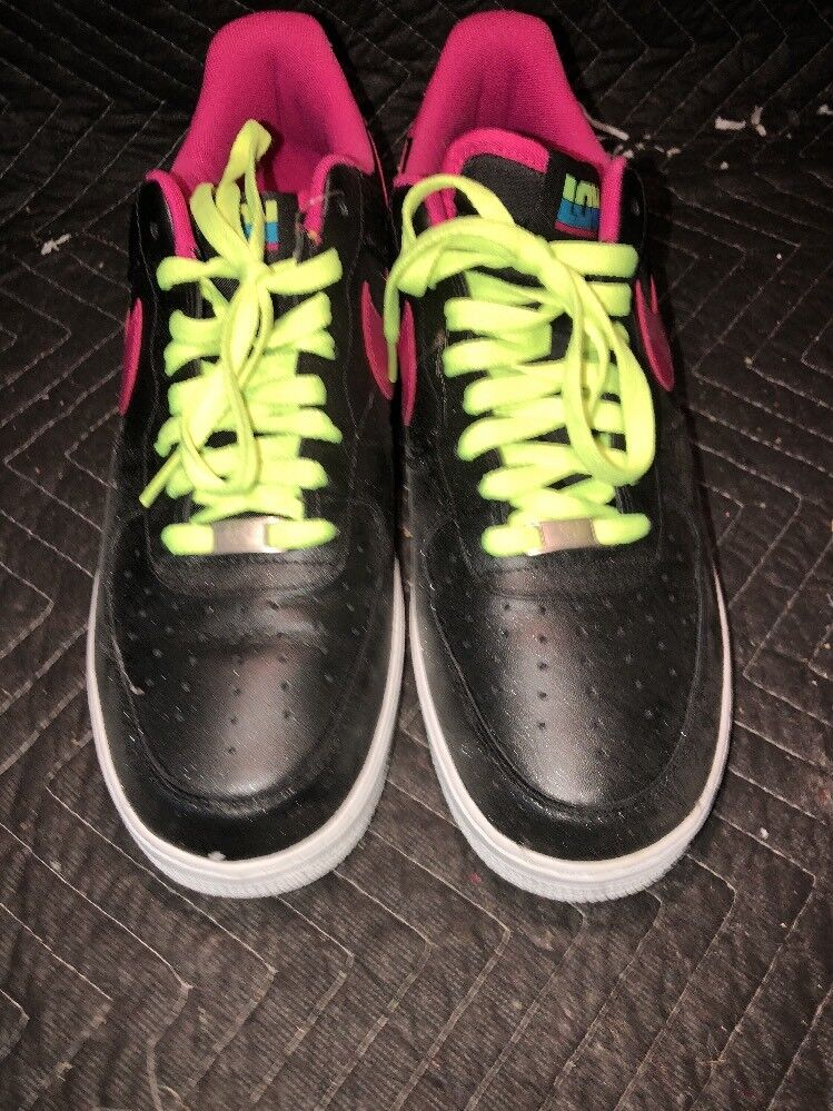Special limited time Nike Air Force 1 London Men's 488298-015 Black Fireberry Shoes Sneakers Comfortable