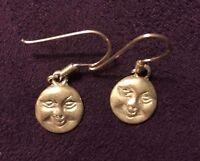 Sterling Silver Moon Earrings for Pierced Ears