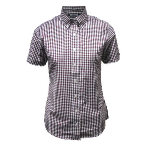 Relco Pour Femme Gingham Fitted Button Down Shirt