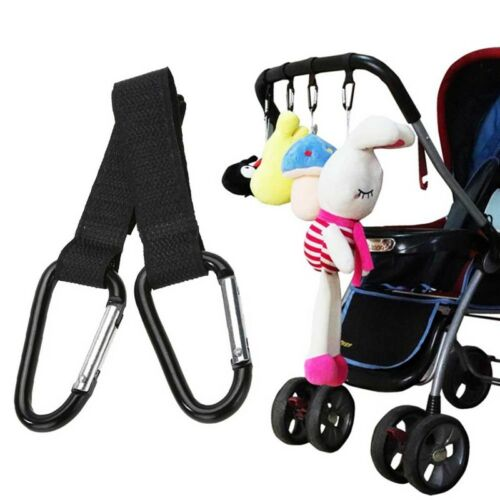 2 x Bags Hooks For Buggy Pram Pushchair Stroller Large Hand Carry Shopping Clip