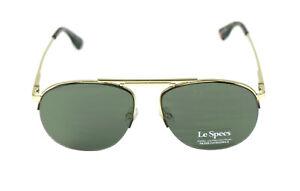 Le-Specs-Designer-aviator-gafas-de-sol-034-liberation-034-1702024-oro-verde-piloto
