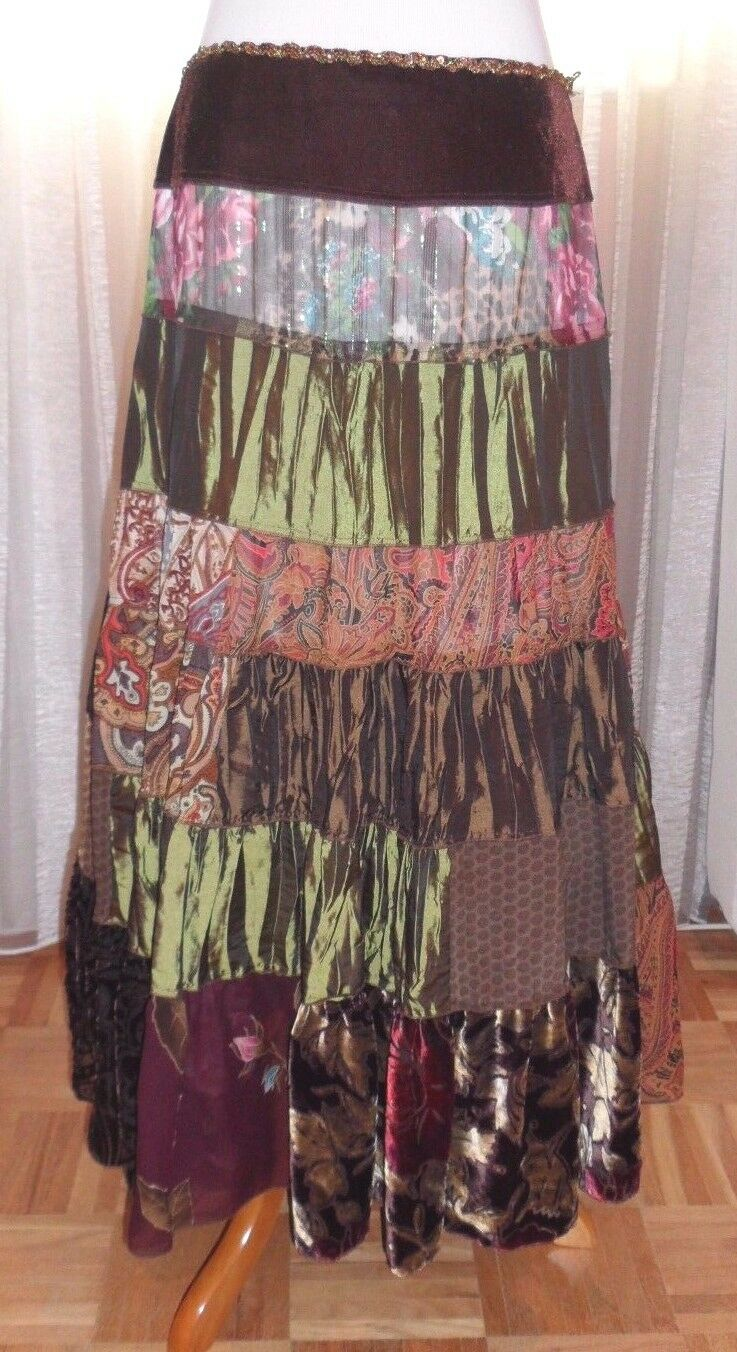 CACHE FAB COLORFUL SKIRT MULTI COLOR, MULTI FABRIC, LINING, BEAUTIFUL LOOK