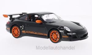 997 schwarz//orange Porsche 911 GT3 RS 1:24 WELLY   *NEW*