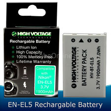 EN-EL5 Li-ion Battery for Nikon Coolpix P80 P90 P100 P500 P510 P520 1900mAh