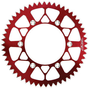 Fly Racing Aluminum Rear Sprocket Red 49 Tooth (225-49 RED)