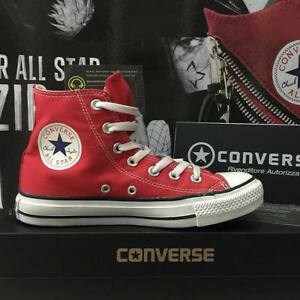 Scarpe Converse All Star Rosso Rosse Red Alte Classiche Uomo Donna Unisex 2018