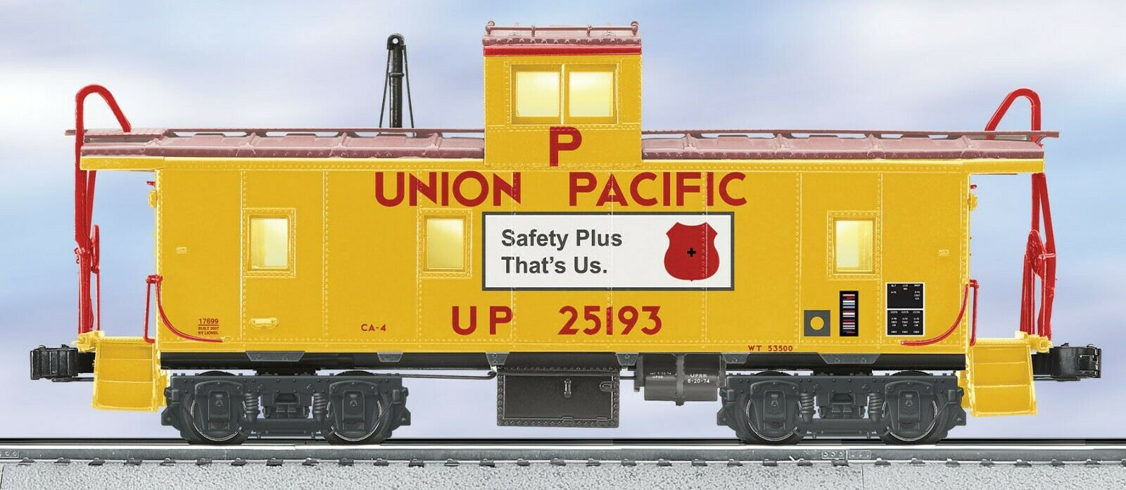 Lionel 617699 Union Pacific CA4 Caboose pre di proprietà o Gauge 3 RAIL