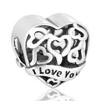 My Wife Charm, Silver European Bead,I Love You Jewellery, Birthday Gift