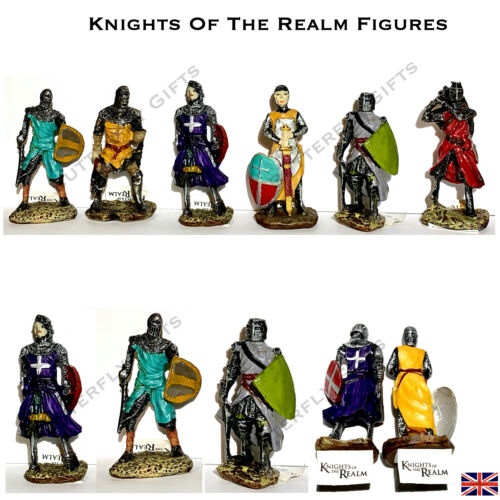 Castle knights of The Realm Action Figures Resin Hand Painted 2 sets to collect