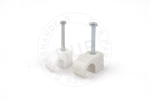 100 Stück 7-11 mm Nagelschelle mit 35mm Nägel Schelle Kabel