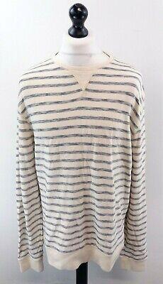 Tommy Hilfiger Mens Jumper Sweater 2xl Xxl White Grey Stripes Cotton Gesundheit FöRdern Und Krankheiten Heilen
