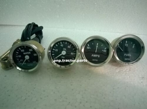 Smiths Replica 52 mm 2 1/16 Gauges Kit - Temp + Oil + Fuel + Amp Gauge