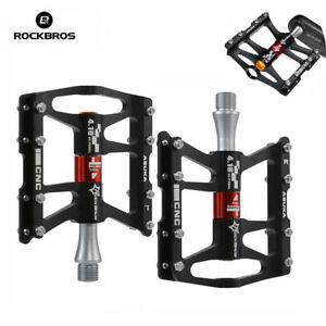 RockBros-Road-MTB-Mountain-Bike-Cycling-4-Sealed-Bearing-Aluminum-Pedals-Black