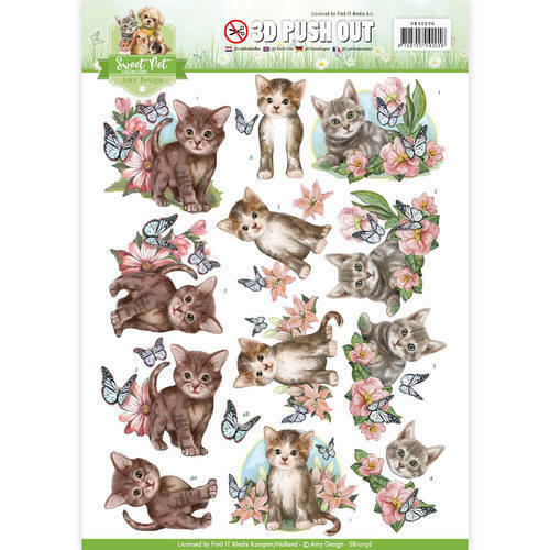 CATS FOR CARDS /& CRAFTS SWEET PETS AMY DESIGN 3D DECOUPAGE