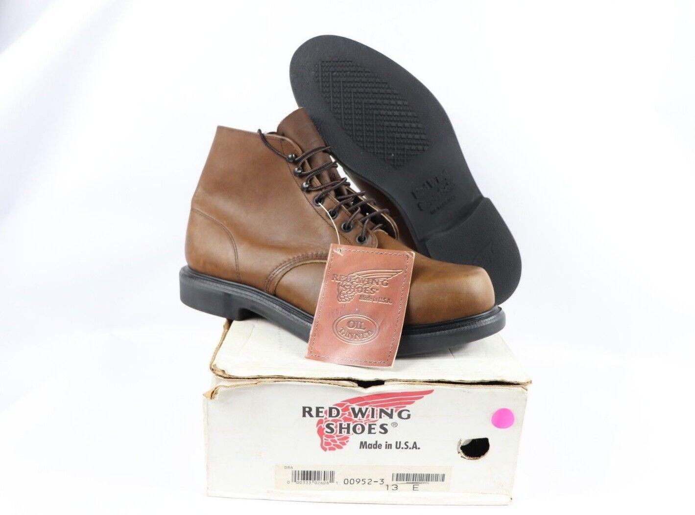 Senza tasse Vtg New rosso Wing scarpe Uomo 13 13 13 E 952 6 Inch Oil Tanned Leather Chukka Work stivali  garantito