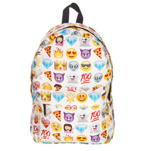Smiley-Emoji-Sac-a-dos-Drole-Cartable-Epaule-Sac