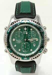 Orologio Sector ADV 6000 men's watch 39 mm clock green dial chrono montre reloy