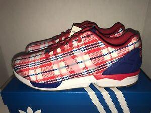 best website 3aa85 c9f64 Adidas ZX Flux Clot Red White Royal Blue Men's Size 10.5   eBay