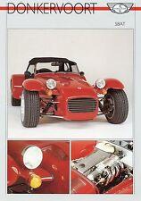 Prospekt GB Donkervoort S8AT 1989 1 Blatt Autoprospekt Auto PKWs brochure