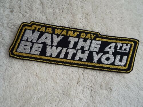 """E16 May the 4th Be With You 7-1//4/"""" Embroidery Iron-on Patch Star Wars Day"""