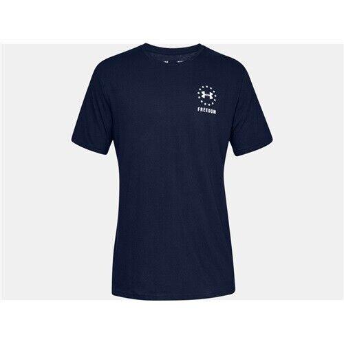 Under Armour 1330059408LG Freedom Mens L Academy Blue Short Sleeve T-Shirt
