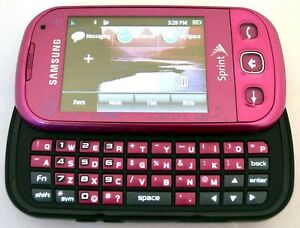 samsung seek sph m350 sprint cell phone pink slider keyboard evdo 3g rh ebay com All Samsung Cell Phones Samsung S125G Manual