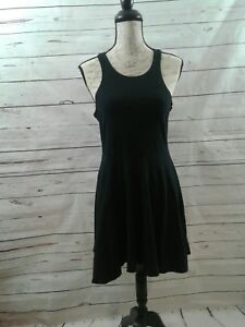 Urban-Outfitter-Sparkle-And-Fade-Black-Knit-Women-Large-Sleeveless-Dress