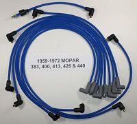 Big Block Mopar 1959-1972 383-400-413-426-440 Blue Spark Plug Wires-points Usa