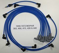 Big Block Mopar 1959-1972 383-400-413-426-440 Blue Spark Plug Wires-points Usa