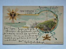 ARTIGLIERIA 1 Reggimento da COSTA nave ship vecchia cartolina  Genova