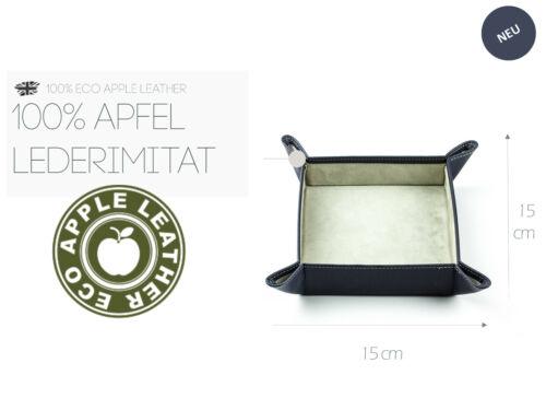 Taschenleerer Öko Apfel Leder Stift Recycling Ablageschale für Schlüssel Geld