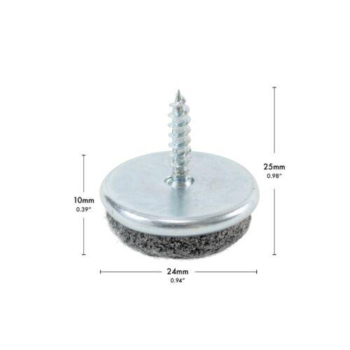 Möbelgleiter rund stabil zum Schrauben Ø 24 mm 20 Stück! haggiy Filzgleiter