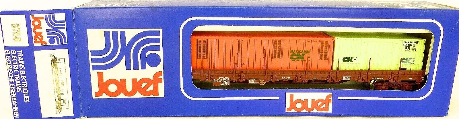 CNC Maxicadre Vagone per Container Jouef 6756 H0 Conf. Orig. 1 87 Å